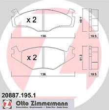 Set of Brake Pads Disc Brake - Zimmermann 20887.195.1