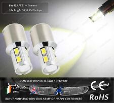 LED SMD Bau15s PY21W Xenon White Sidelights Front Parking Marker Bulbs 12v 24v