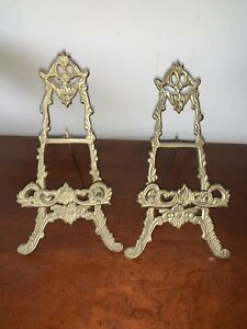 Vintage Cast  Metal Standing Easel To  Display  , Picture, Book, Etc.