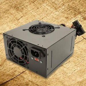 NEW--Power Star Black 650w-Max ATX Power Supply Dual Fan, 20+4pin, SATA & PCIe