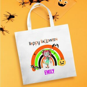 Halloween Personalised Trick or Treat Goody-Party Bag - Design1