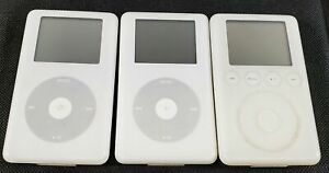 Bundle of 3 Untested Apple iPod MP3 Players A1040, A1059, A1099 - AS-IS - LOT