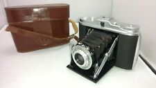 Vintage Agfa Agnar Folding Camera 1:45 / 85mm Lens Isolette With Case Germany