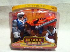 Rescue Heroes Force of Nature Al Pine & Windchill! FACTORY SEALED!