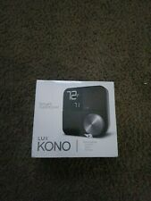 NEW Lux Kono Smart Wi-Fi Thermostat with Interchangeable Black Stainless Steel