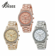 Geneva Stainless Steel Strap Casual Wristwatches