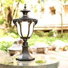 Vintage Pillar Mounted Outdoor Coach Light Metal Lantern Glass Lamp Post 1 Light
