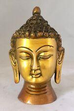 FINITION ANTIQUE Bouddha tête lourd Budha Buste 4.3'' lourd laiton