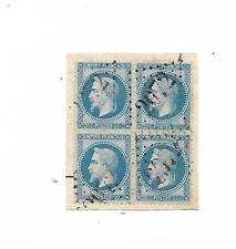 bloc de 4 timbres empire lauré no 29 sur fragment gros chiffre 2072