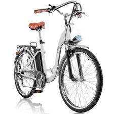 Bicicleta electrica VINTAGE 36V 250W rueda 26'' cambio Shimano Blanca –FitFiu