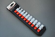 Steckschlüsselsatz 6kt Nüsse Einsatz Set 1/2 6 kant 8-19 mm 10 tlg Stecknüsse