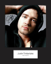 JUSTIN TIMBERLAKE #3 Signed Photo Print 10x8 Mounted Photo Print - FREE DELIVERY