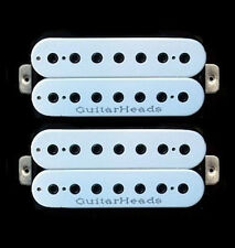 Guitar Parts GUITARHEADS PICKUPS HEXBUCKER HUMBUCKER - 7 STRING - SET 2 - WHITE