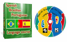 Learn To Speak Brazilian Portuguese Spanish Language Courses 3 in 1 DVD Disk