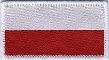 Polish Flag Poland Woven Badge, Patch 8cm x 4.5cm
