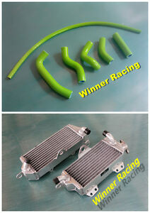 Aluminum Radiator &Silicone Hose Kit Kawasaki KX500/KX 500 1988-2004 2003 2002
