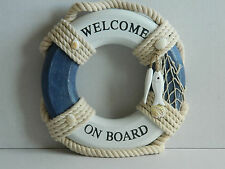 NAUTICAL LIFE RING WELCOME ON BOARD SIGN BEACH SEASIDE