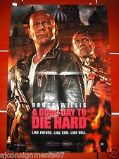 A Good Day to Die Hard {Bruce Willis 41X27 Original Int Folded Movie Poster 2013