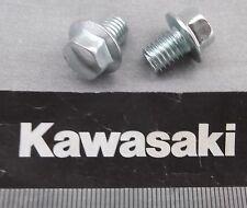 Genuine Kawasaki Tornillo embridado Hex 8mm M8x10mm Acabado Brillante 132G0810 2-Pack