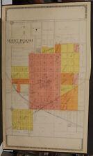Illinois Logan County Map Mount Pulaski 1910 Double Page  J10#87