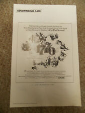1776(1972)WILLIAM DANIELS ORIGINAL AD SECTION OF PRESSBOOK