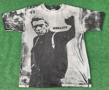 Vintage Steve McQueen Bullit Mosquitohead style T-shirt size XL Warner Bros