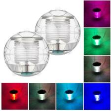 Colorful LED Solar Floating Light Underwater Pool Yard Decorative Ball Lamp BEST