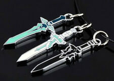 Anime SAO Sword Art Online Asuna Kirito Cosplay Props Kazuto Sword Necklace