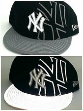 New York Yankees NY New Era 59Fifty Reflective Navy Gray Fitted Hat Cap 7 3/4