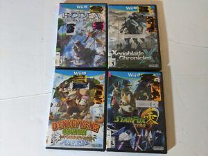 Lot of 4 Wii U games discards Xenoblade Chronicles X Rodea Star Fox Zero Donkey