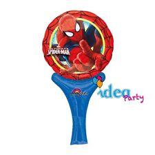 Palloncino MINI - SPIDERMAN 15x30cm Addobbi Festa Compleanno scettro spider man