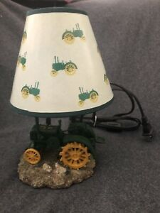 John Deere Tractor Table Lamp Vintage 1999 Collectible