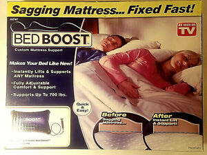 Bed Boost As Seen On TV + Retail Box with Pump Support Sagging Mattress