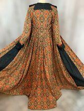 1890-1900s Victorian Antique Coat Paisley Dressing Vintage Gown XS/S