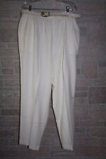 NWT Womens $42 Alfred Dunner Ivory White Classic Fit Pull On Pants Size 24W (A11