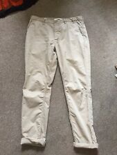 Norse Projects Aros Slim Light Twill Chino Khaki 34 RRP £100