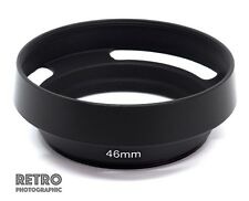 46mm Metal Vented Lens Hood Suit Panasonic Lumix 20mm F1.7 & 14mm F2.5 Lens