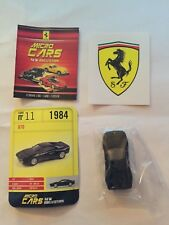 """DIE CAST FERRARI MICRO CARS """" GTO - 1984 """" USCITA N° 11 1/100 KYOSHO"""