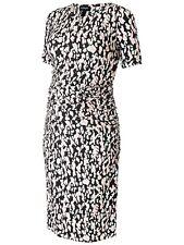 Isabella Oliver Ida Ruched Jersey Leopard Print Maternity Midi Dress 5 UK 16