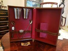 Vintage Portable Travel Bar Cocktail Set