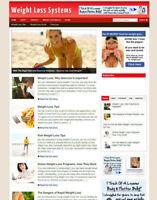 WEIGHT LOSS SYSTEMS AFFILIATE WEBSITE & STORE + NEW FREE DOMAIN & HOSTING