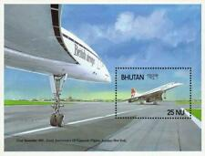 Bhutan 1988 Concorde Plane S/S Sc#651 Mnh Aviation