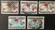 CANADA 1898 #s 85-86 IMPERIAL PENNY POST 5 USED STAMPS