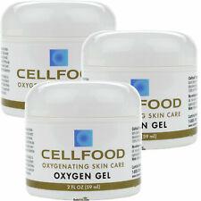 3x CELLFOOD Lumina Oxygen Gel Skin Care 2 fl oz Made in USA FREE SHIPPING