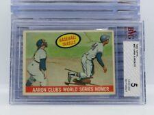 1959 Topps Hank Aaron Baseball Thrills #467 BVG 5 Excellent EX Braves E87