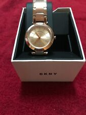 DKNY Women's Watch NY2287 Rose Gold Tone Stainless Steel Stanhope $175(DK-28)