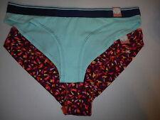 Women's Flirtitude Set of 2 Cheeky Panties X-Large Triangles &  Blue  08