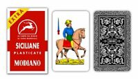 Modiano Sicilian Scopa Italian Plastic Playing Cards