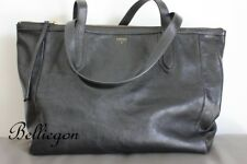 FOSSIL Large BLACK Slouch LEATHER Hand BAG Tote