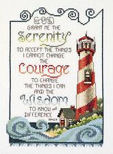 Cross Stitch Kit ~ Janlynn Coastal Lighthouse Serenity Prayer #080-0475
